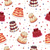 tasty celebratory cakes vector seamless pattern stock photo © robuart