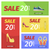 двадцать · процент · продажи · плакат · ярко · синий - Сток-фото © robuart