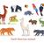 állatkerti · állatok · ikonok · vektor · stílus · izolált · fehér - stock fotó © robuart