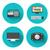 オーディオ · セット · 単純な · デザイン · マイク - ストックフォト © robuart