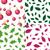 karácsony · végtelenített · minták · piros · zöld · végtelen · minta · papír - stock fotó © robuart