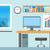 icon · moderne · kantoor · desktop · illustratie - stockfoto © robuart