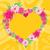 photo · frame · coração · flor · grunge · dia · dos · namorados · amor - foto stock © robuart