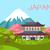 japan view on asian building and flowering sakura stock photo © robuart