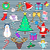 set of happy new year and merry christmas elements stock photo © robuart