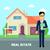 不動産 · ブローカー · 作業 · 建物 · 販売 · 不動産業者 - ストックフォト © robuart