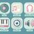 conjunto · Áudio · alto-falantes · branco · projeto - foto stock © robuart
