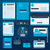 корпоративного · личности · шаблон · дизайна · синий · цвета - Сток-фото © robuart