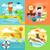 projeto · ícone · natação · homem · cabeça · óculos · de · proteção - foto stock © robuart