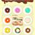 セット · 甘い · ドーナツ · ドーナツ · カラフル · 手描き - ストックフォト © robuart