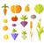set of fruits vegetables vector illustration stock photo © robuart