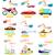 avión · icono · Cartoon · estilo · aislado · blanco - foto stock © robuart