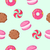 chocolate biscuit macaroon candy seamless pattern stock photo © robuart