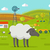 sheep on farmyard concept illustration stock photo © robuart