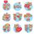 flores · iconos · estilo · vector · simple · ilustración - foto stock © robuart