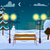 snowy winter city park vector illustration stock photo © robuart