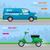 automático · azul · bicicleta · transporte · vetor · branco - foto stock © robuart
