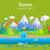 park · regenboog · grappig · cartoon · vector · scène - stockfoto © robuart