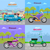set of vehicle icons fast delivery motorcycle stock photo © robuart