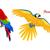 オウム · デザイン · ベクトル · 鳥 · 実例 - ストックフォト © robuart