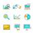 set of icons flat style data analysis stock photo © robuart