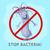 остановки · бактерии · Cartoon · нет · вирус · знак - Сток-фото © robuart