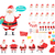 merry christmas collection of santa claus icons stock photo © robuart