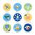 ソーシャルメディア · ドル · シンボル · 通貨 - ストックフォト © robuart
