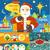 幸せ · サンタクロース · 鹿 · 雪だるま · クリスマス · サンタクロース - ストックフォト © robuart