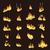 rosso · brucia · fiamma · pattern · vettore · fuoco - foto d'archivio © robuart
