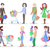 shopping people flat vector characters set stock photo © robuart