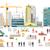 プロセス · 建設 · 住宅の · 住宅 · 孤立した · 現代建築 - ストックフォト © robuart