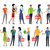 set of shopping characters vector illustration stock photo © robuart