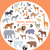 set of world animal species vector illustrations stock photo © robuart