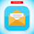 mail message app icon flat style design stock photo © robuart
