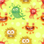 set of seamless pattern with good and bad bacteria stock photo © robuart