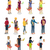 shopping people isometric characters vector set stock photo © robuart