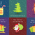 merry christmas and happy new year set of icons stock photo © robuart