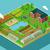 vecteur · icône · tracteur · jardin · silhouette · graphique - photo stock © robuart