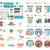 weboldal · internetes · ikonok · szett · egy · tizenhat · kék - stock fotó © robuart