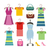 set of women clothes items editable elements stock photo © robuart