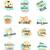 set of summer logo icons summer time stock photo © robuart
