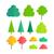 セット · 孤立した · 木 · デザイン · ツリー · 森林 - ストックフォト © robuart