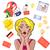 漫画 · オープン · 口 · 吹き出し · 手 · デザイン - ストックフォト © robuart