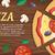 pizza · afiş · İtalyan · peynir · domates - stok fotoğraf © robuart