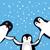 funny penguins vector illustration in flat design stock photo © robuart