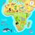 アフリカ · ファウナ · 種 · かわいい動物 · ベクトル · かわいい - ストックフォト © robuart