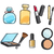 collection of make up things lipstick powder stock photo © robuart