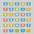 ingesteld · bladwijzers · stickers · grijs - stockfoto © robuart