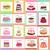 smakelijk · gebak · vector · ingericht · gekleurd - stockfoto © robuart